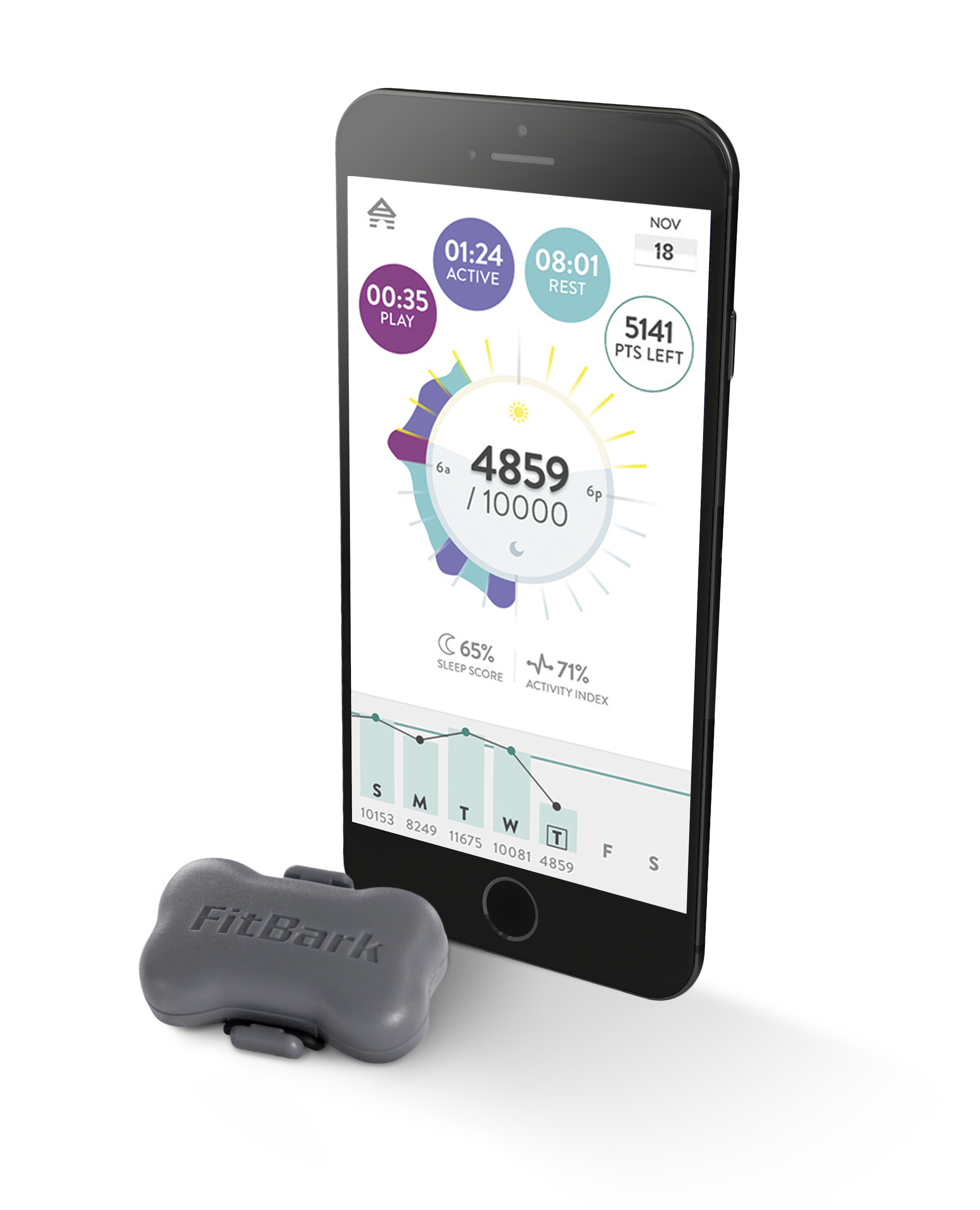 iPhone6_FitBark_Gray_Daily_View | What do FitBark devices measure?