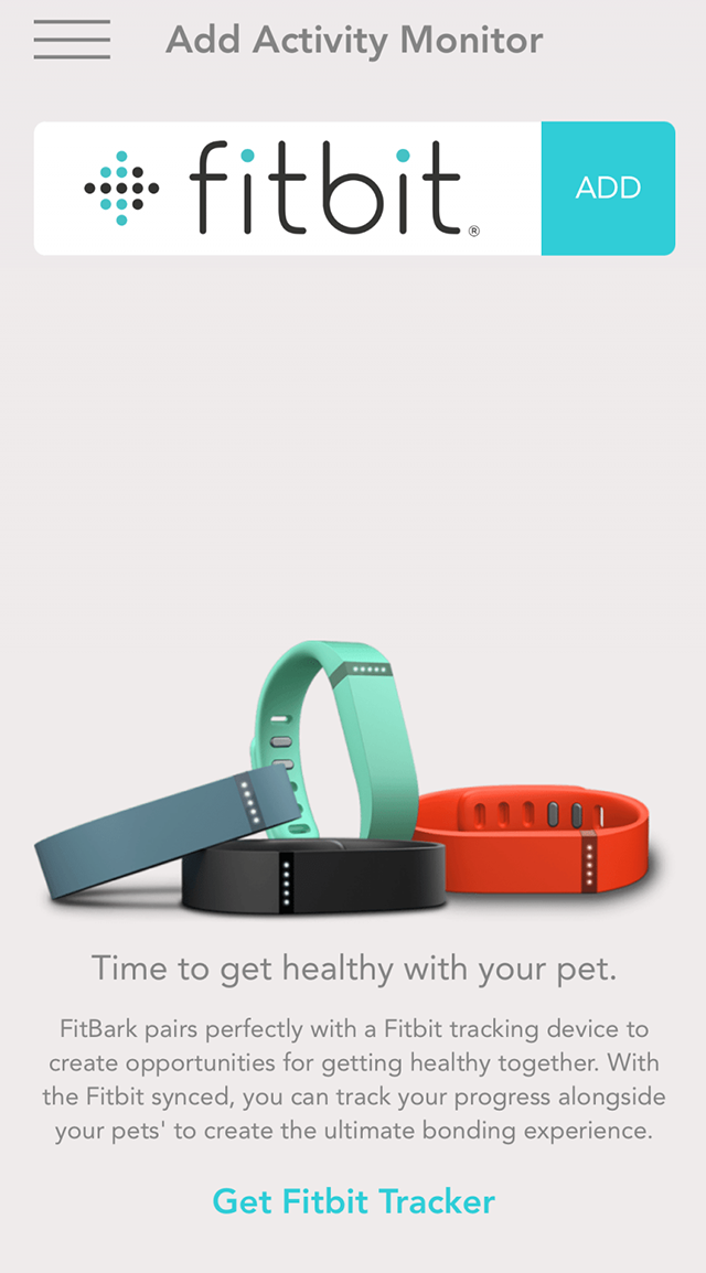 FitBark_Fitbit_Add | How can I link a human activity monitor?