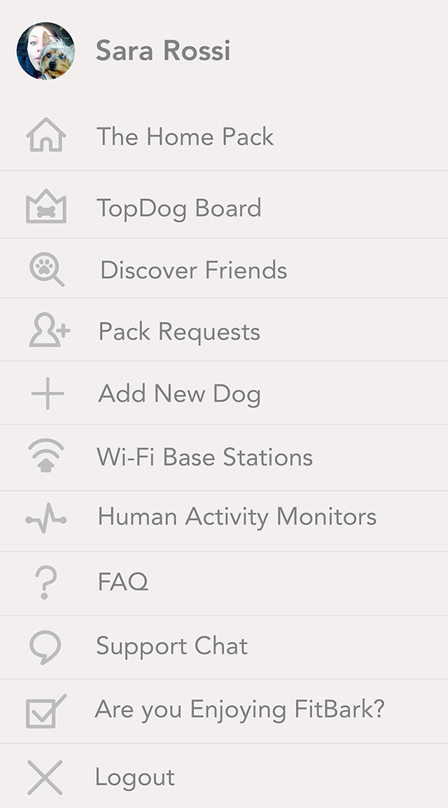 FitBark_Mobile_App_Settings | How do I find new dogs to add to my pack?