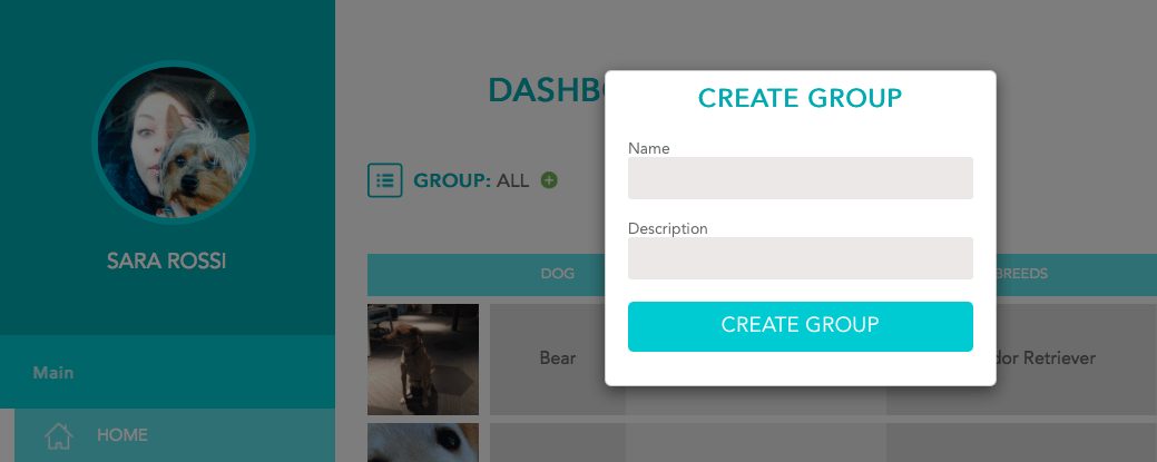 FitBark_Web_Group_Create_Name_02 | How can I create custom groups of dogs and chart them together?