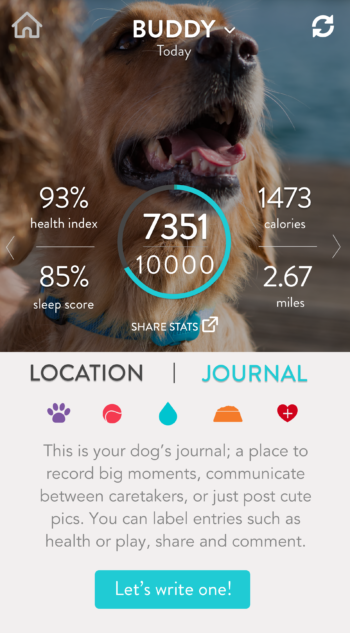 FitBark_Homescreen_Location-and-Journal-350x633 | My FitBark 2/GPS won't sync. Now what?