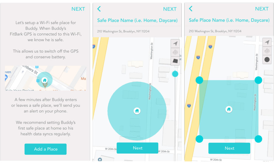 FitBark-App_Safe-Places-900x540 | I'm a new user. How do I setup a new FitBark GPS?