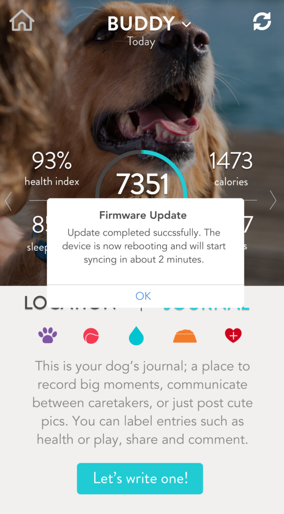 FitBark_Firmware-Update-Completed-569x1030 | How do I perform a firmware update on my FitBark/FitBark 2?