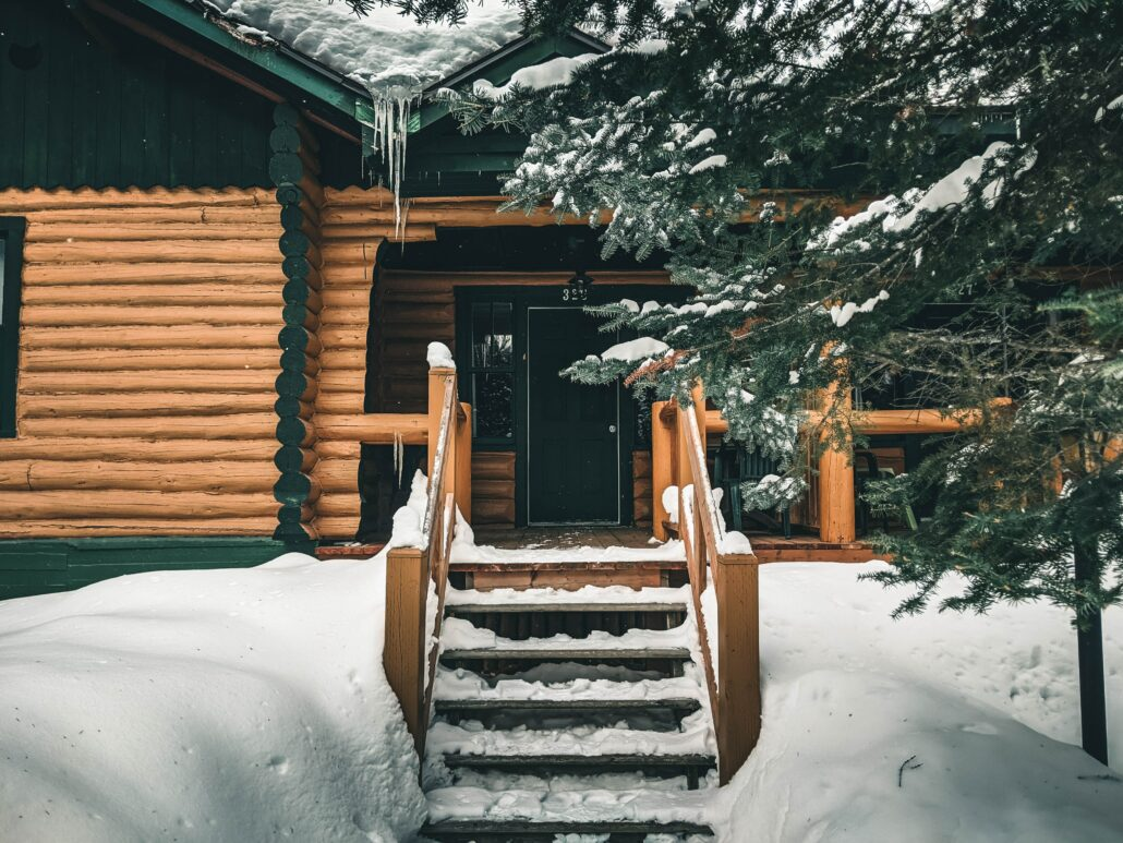 FitBark_cabin_snowy_stairs-1030x773   How to Find the Perfect Log Cabins for Pet Camping